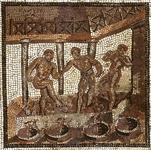 La pigiatura dell'uva nel mosaico di St. Romain en Gal