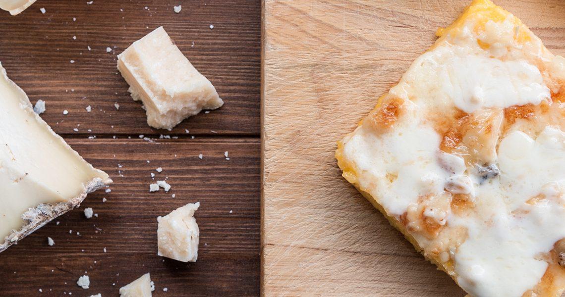 Polenta gratinata gorgonzola taleggio