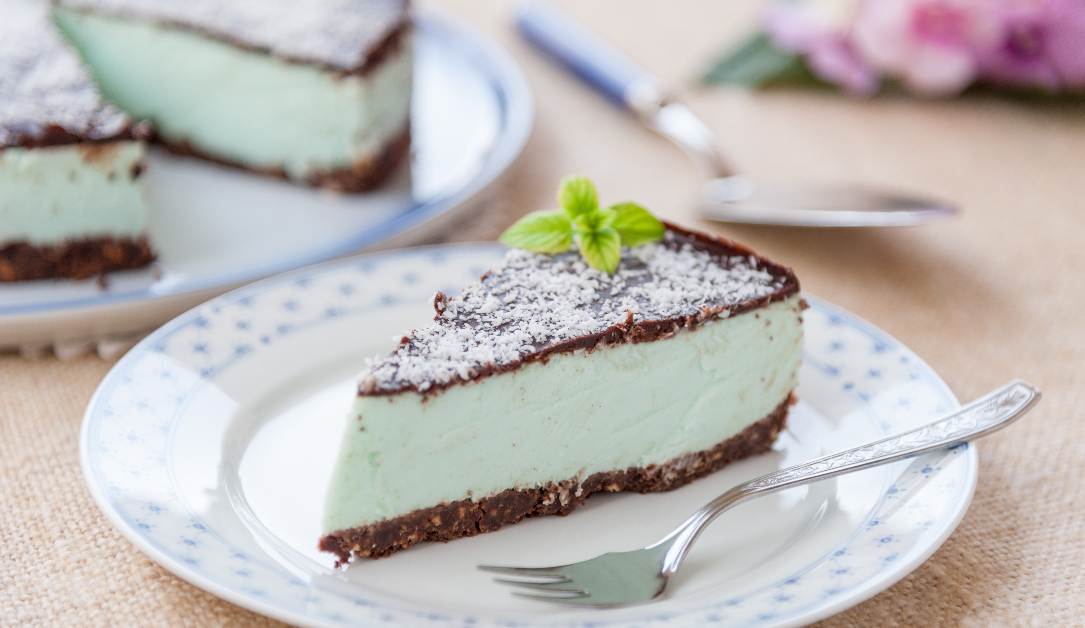 Cheesecake After Eight con scaglie di cocco